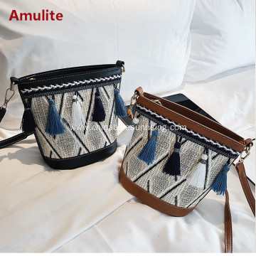 Women Straw Shoulder Crossbody Handbag Summer Casual Bag
