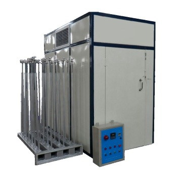 Hot air yarn drying machine