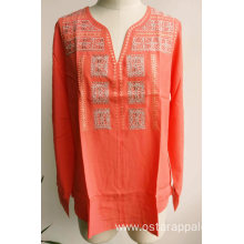 Women Blouse Viscose Embroidery Ladies Blouse