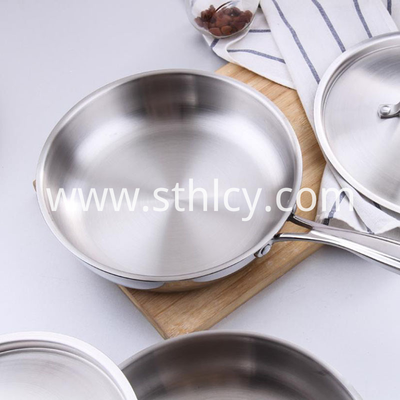 Stainless Steel Pan Brown Stains