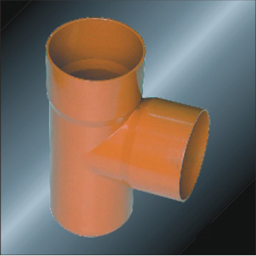 DIN PVC Drainage Fitting Tee Spigot 110mm