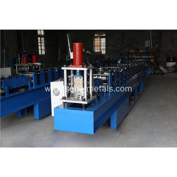 Garage roller shutter doors panel making machine