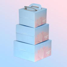 Cardboard box for cake packaging