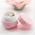 Wholesale Macaron acrylic flower cosmetic jars with good price for girls