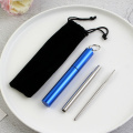 Reusable Metal Collapsible Straw Travel Straw Set