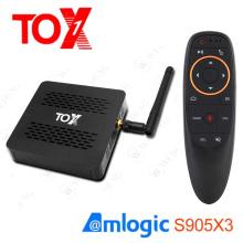 Smart Android 9.0 TOX1 Amlogic S905X3 TV Box 4GB RAM 32GB ROM 2.4G 5G WiFi BT 1000M 4K Media Player TVBOX USB 3.0 Set top Box