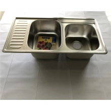 201stainless steel double bowl kitchen sink