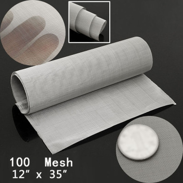 Stainless Steel Woven Wire 35x12inches 100 Mesh Woven Wires Shielding Fabric Cloth Household Working Screen Filter Sheets