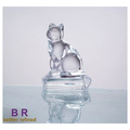 Glass Cat Shape Statue For Gift Home Decoration
