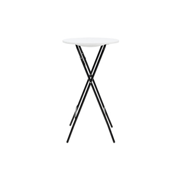 Furniture 60cm Round Granite White Plastic Folding Table