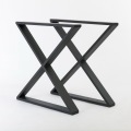 Black Powder Coating Modern Dining Metal Table Leg