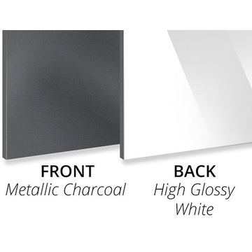 3MM Metallic Charcoal/Gloss White ACP Sheet