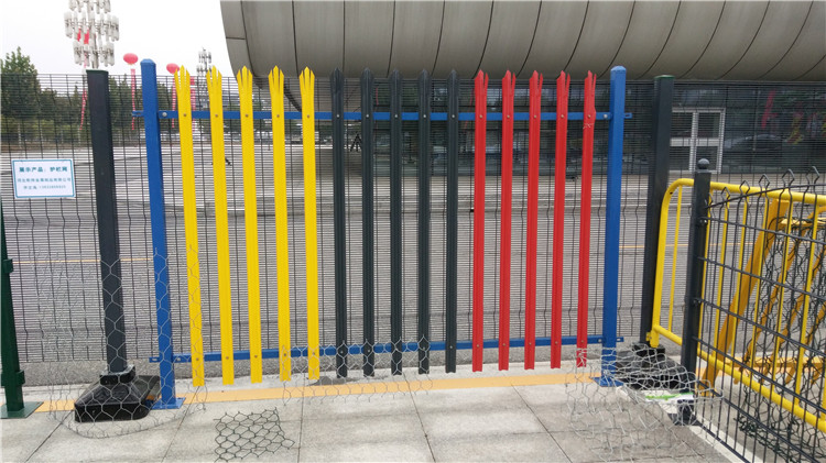 colorful palisade fence