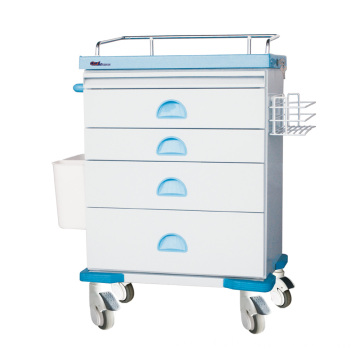 Tianao Hospital Steel ABS Anesthesia Trolley