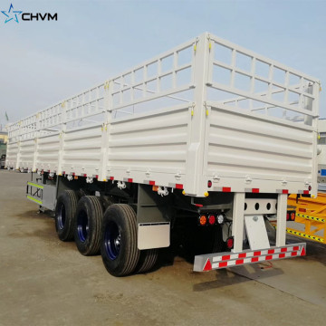3Axles 40FT Side Wall Fence Cargo Trailer