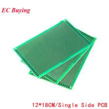 5pcs 12x18 12*18 Single Side Prototype PCB Universal Printed Circuit PCB Glass Fiber Universal Board Green Oil Epoxy Protoboard