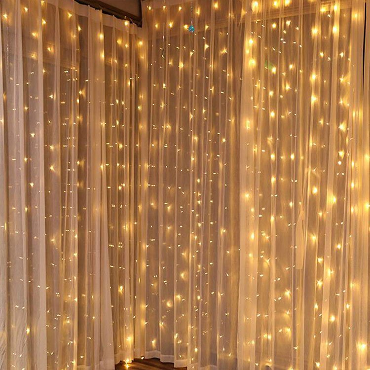 led waterfall curtain light