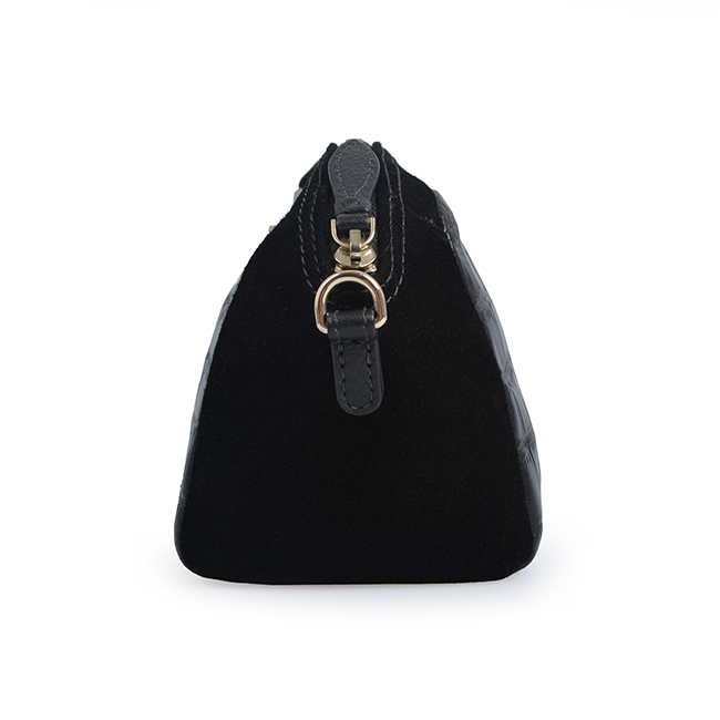 Spring women Crocodile pattern bag black leather
