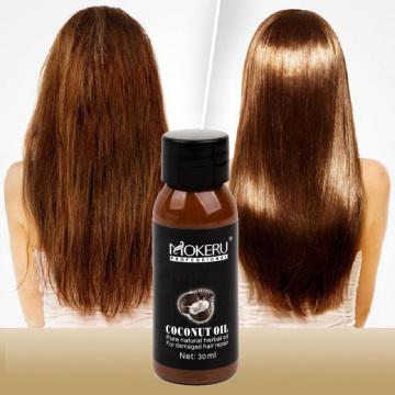 Hot Mokeru 30ml Organic New Virgin Coconut Oil Hair Repairing Damaged Hair Growth Treatment Prevent Hair Loss Products for Women