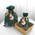 Christmas Medium Botanic Green Non-woven Gift Bags