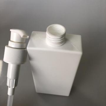 120ml white HDPE square bottle with lotion pump