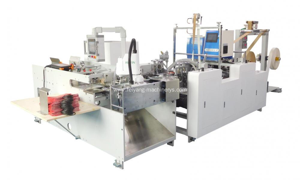 Automatic Twisted Paper Handle Pasting Machine