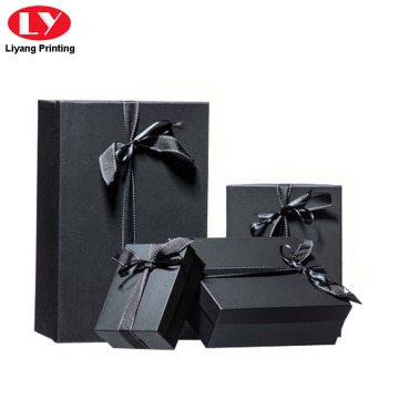 Matte Black Cardboard Jewelry Boxing Packing