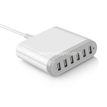 Desk top 6 USB Charger 5V10A Smart IC
