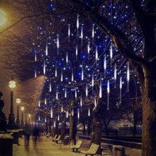 White Meteor Shower Led Rain Icicle Lights