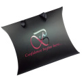 Stamped Foiled Logo Classic Black Pillow Paper Box