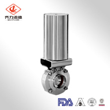 Sanitary Stainless Steel Actuated Butterfly Valve