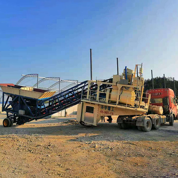 YHZS75 mobile concrete mixing plant for in Philippines