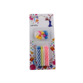 Multi-colored  Birthday Spiral Candles Cake Candle