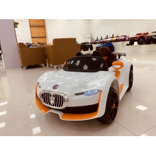 Orange children's electric car