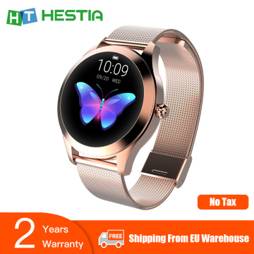 KW10 Smart Watch Women Smartwatch Lady Fitness Bracelet Heart Rate Monitoring Smartwatches Gift Connect IOS Android Smart Band