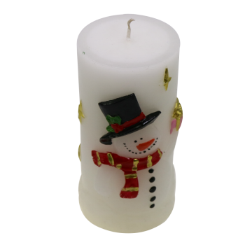 Customized Pillar Scented dry flower Candle
