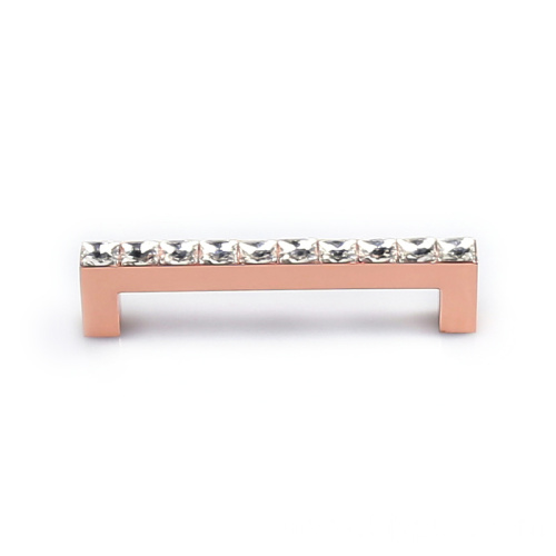 Rose Gold Furniture Crystal Cabinet Handle Pull