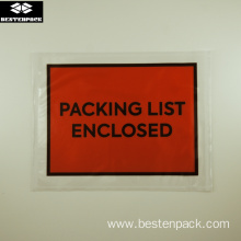 Packing List Envelope 5.5x7 inches Full Printed Red