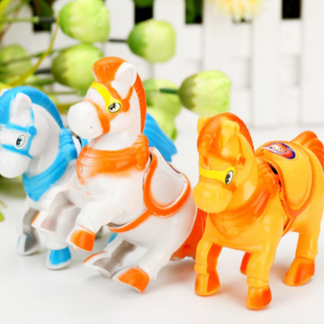 1Pcs Gift for Kids Children Baby Educational Toys Wind Up Animal Running Moving Horse Retro Classic Clockwork Plastic Toy