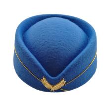 Naiveroo Airline Stewardess Cadet Sexy Formal Uniform Hat Caps Accessory Wool Felt Pillbox Air Hostesses Beret Hat Base Cap