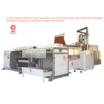 High-Speed Four-Shafts Roll Changing Casting Film machine