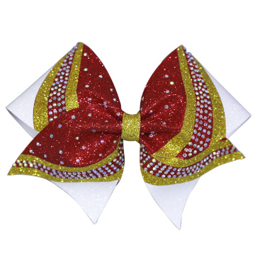 Glitter Red Hair Bows