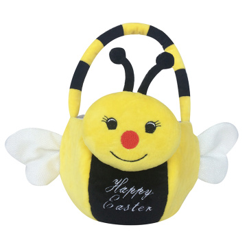 Easter 3d bee pattern plush gift bag