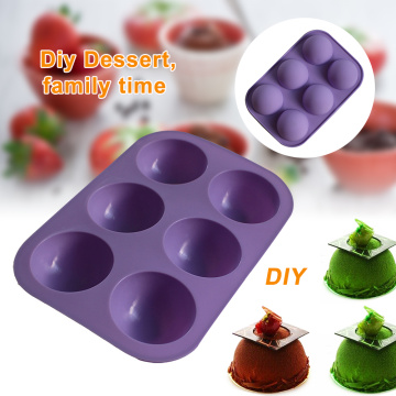 3D Silicone Molds Truffle Round Ball Shaped Baking Moulds For Chocolate Mousse Mould Dessert Muffin Brownie Pudding Jello Mold 3
