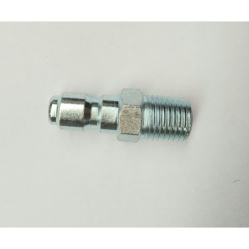 "Pressure Washer 1/4"" Male NPT-M Zinc Plated Quick Connect Plug"