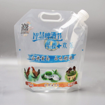 clear Plastic Stand up Packaging Bag