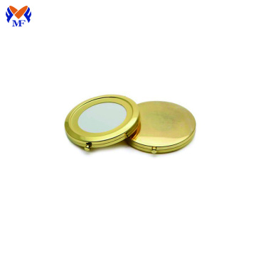 Metal custom gold foldable packet makeup mirror