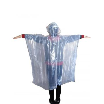 Biodegradation PLA disposable promotional  rain poncho