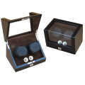 Handmade Ebony Double Rotors Watch Winder