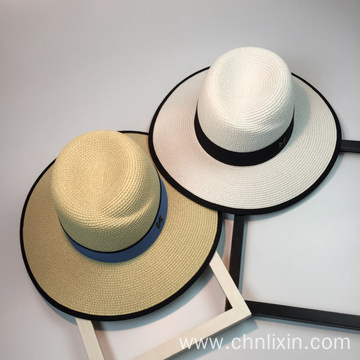 Large head summer paper straw bucket hat